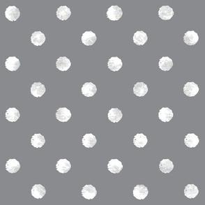 Watercolor Dot - Gray