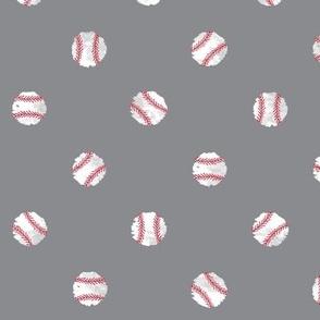 Baseball Dot -  Gray