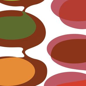 Jumbo Bead curtain -  autumn tones