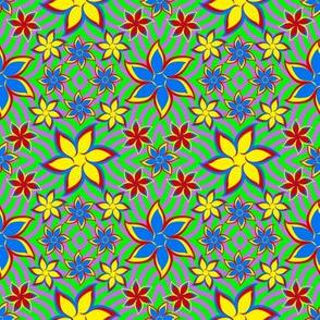Flower Power 70s Jewel Tones