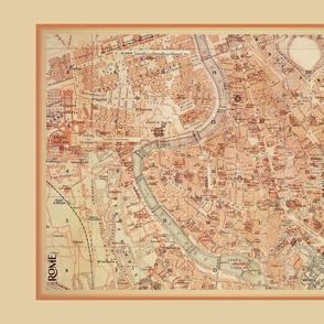 Rome map, antique - large FQ