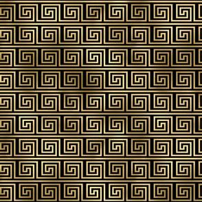 Black and Gold Foil Vintage Art Deco Key Pattern