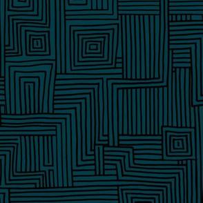 Mudcloth maze stripes minimal Scandinavian grid trend abstract geometric labyrinth navy black winter