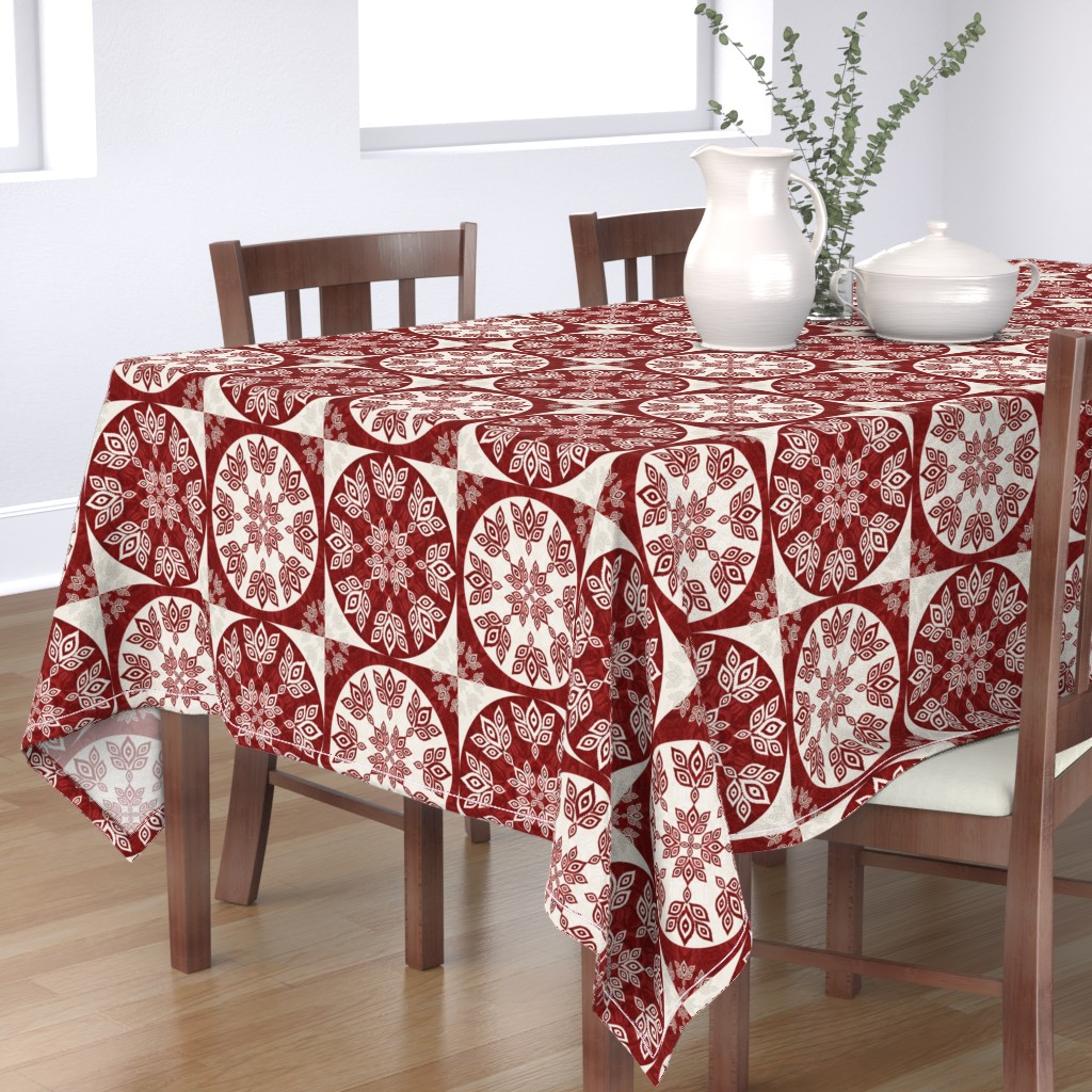 Bantam Rectangular Tablecloth featuring P192019 Christmas by ndn-design