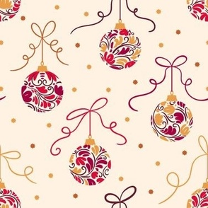 Christmas Balls Gold&Red