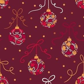 Christmas Balls Red