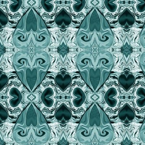 LOVE EVER FLOWING TEAL