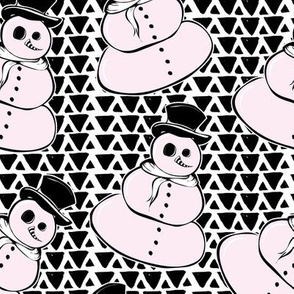 Mystic Snowman of the Merry Misfits - Black