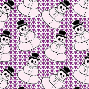 Mystic Snowman of the Merry Misfits-Purple