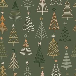 Christmas Snowflakes&Stars - Gold&Blue