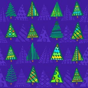 Christmas Trees, violett
