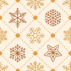 Christmas Snowflakes&Stars in Gold