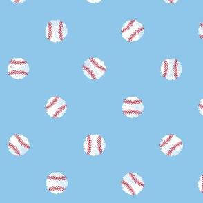 Baseball Dot - Light Blue