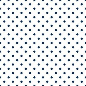 Prunella Dots - White Blue
