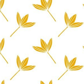 Prunella Yellow Floral-White