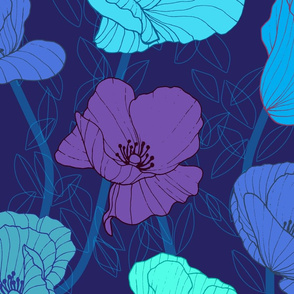 Poppy Jewels Sapphire Blues Large Scale