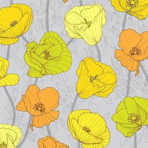 Poppy Jewels Citrine Yellow Large Scale
