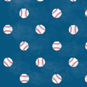 Baseball Dot  - Navy