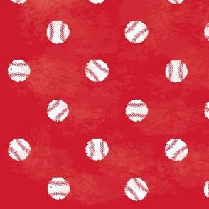 Baseball Dot - Red
