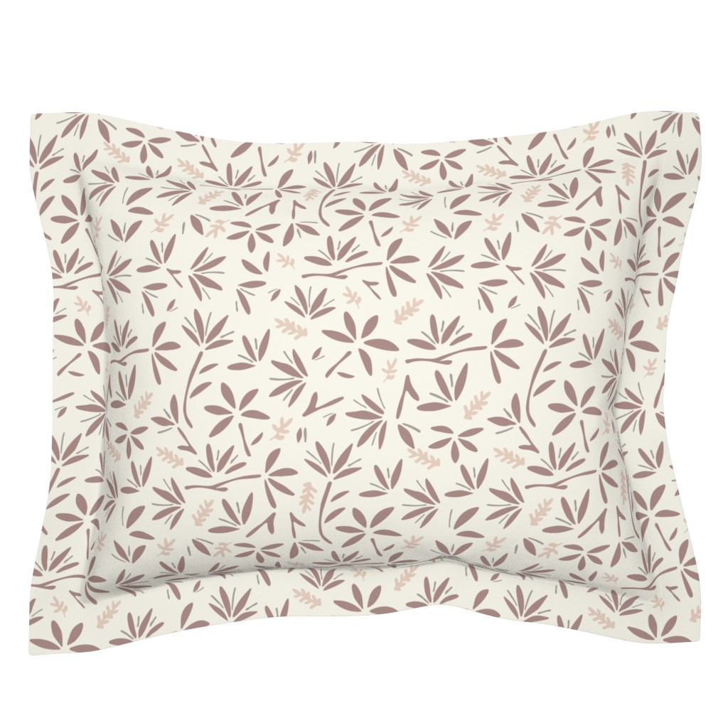 Sebright Pillow Sham featuring Serenity Floral by jillianhelvey