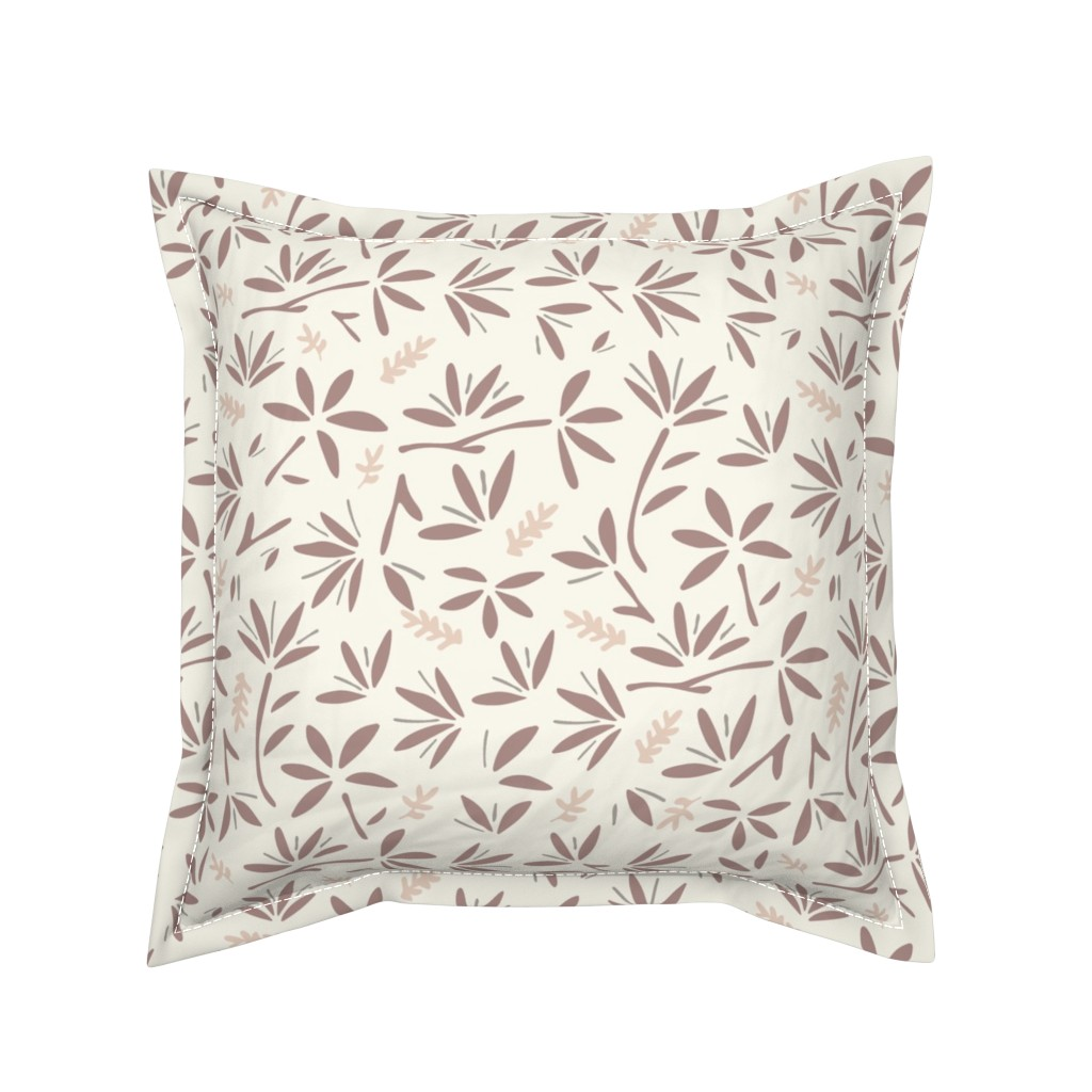Serama Throw Pillow featuring Serenity Floral by jillianhelvey