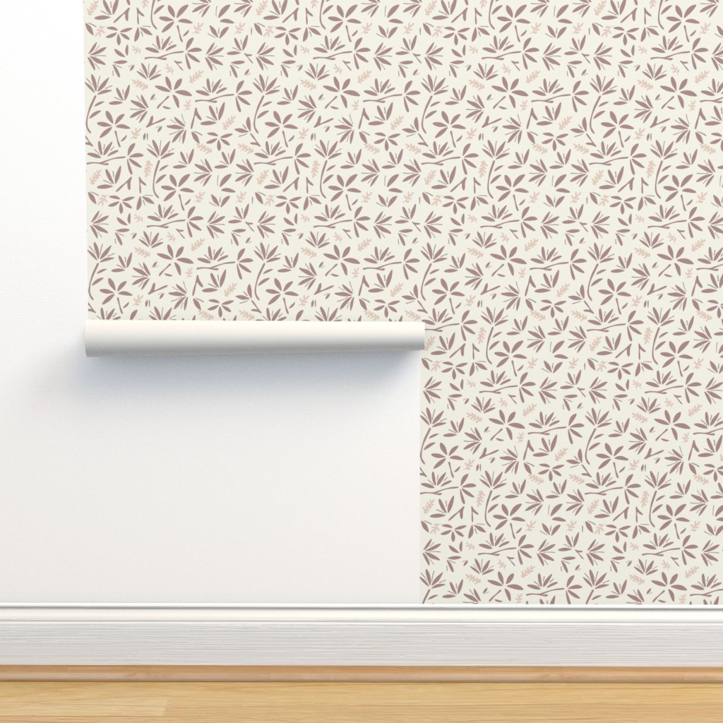 Isobar Durable Wallpaper featuring Serenity Floral by jillianhelvey
