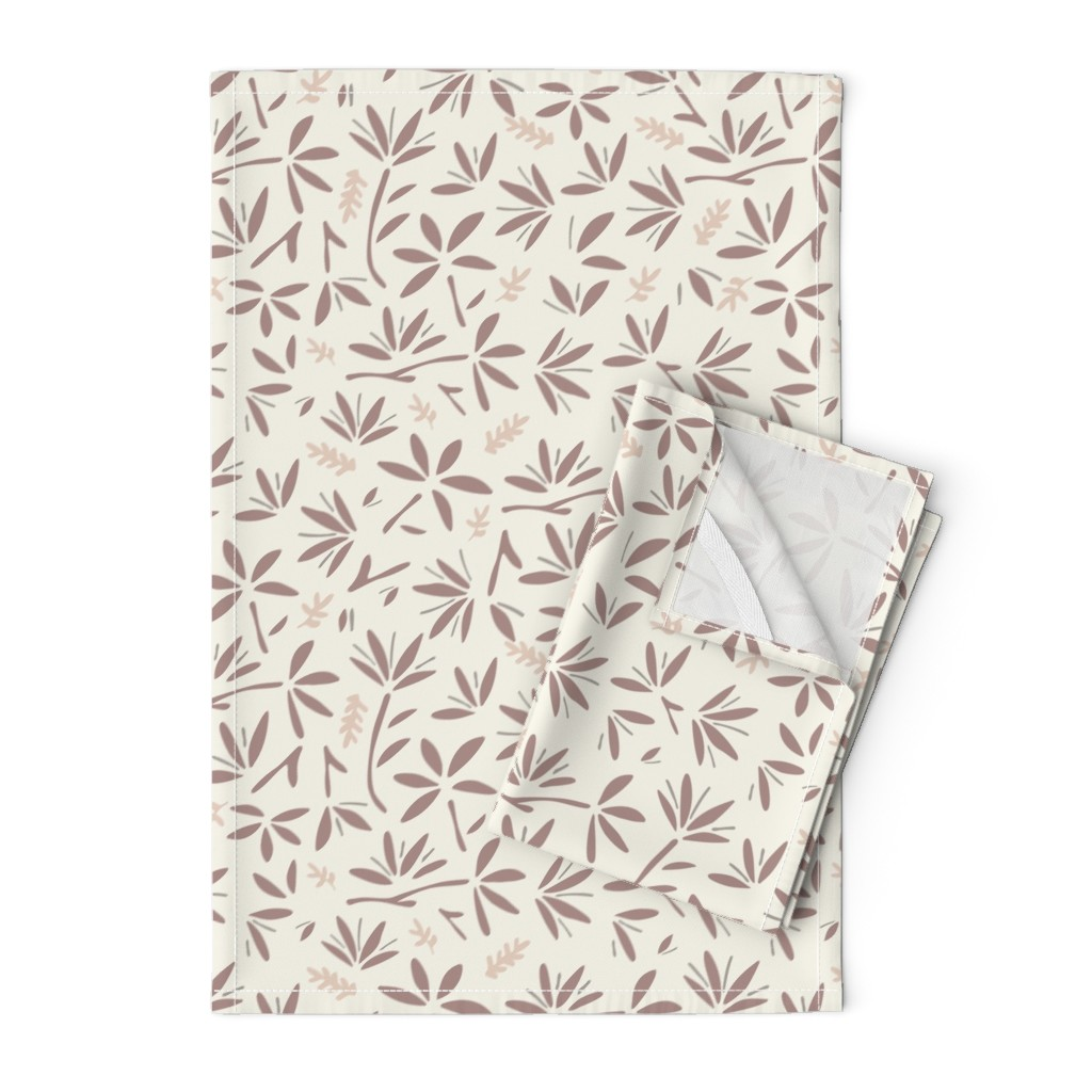 Orpington Tea Towels featuring Serenity Floral by jillianhelvey