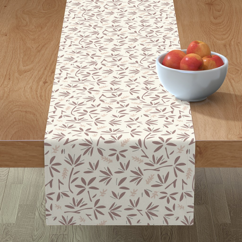 Minorca Table Runner featuring Serenity Floral by jillianhelvey