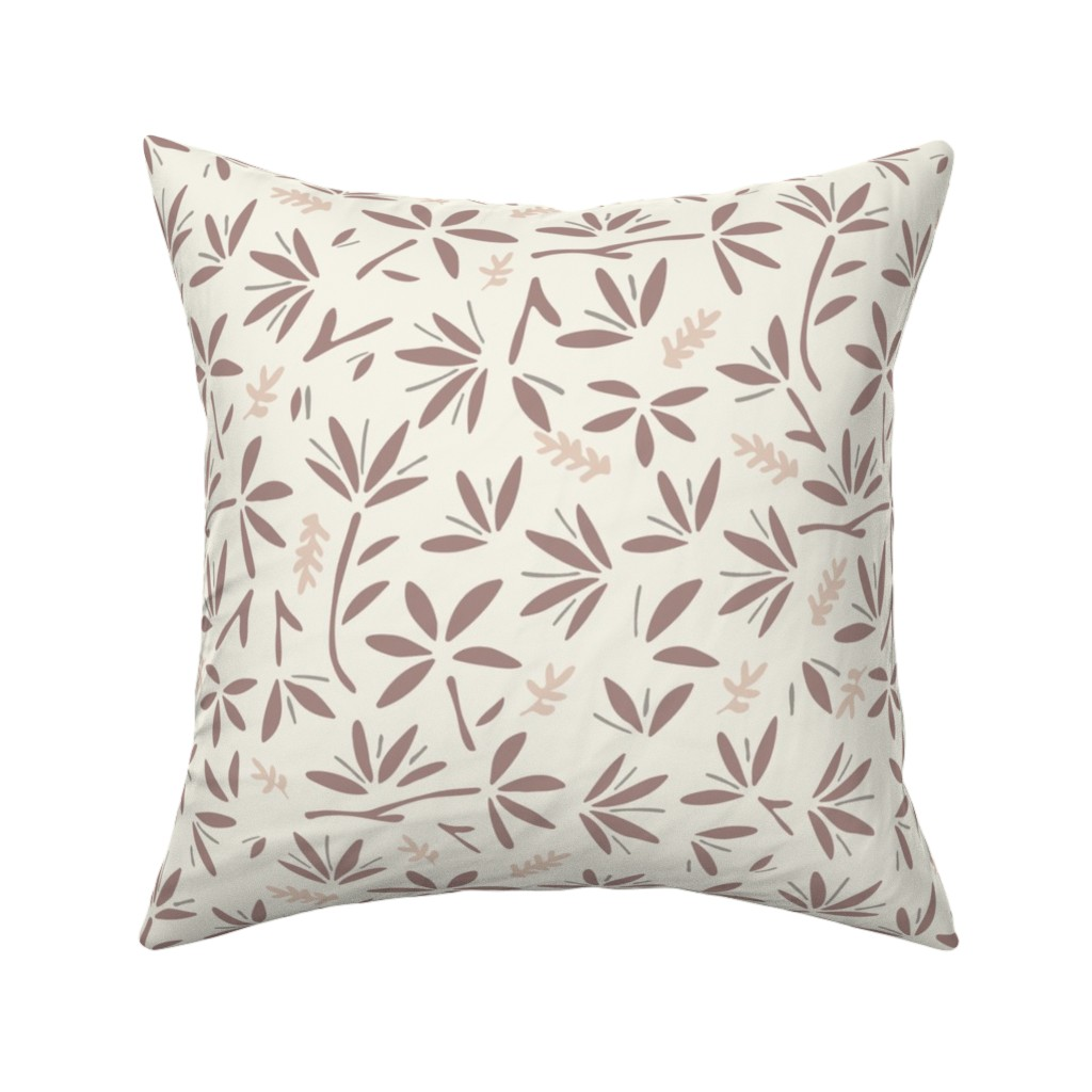Catalan Throw Pillow featuring Serenity Floral by jillianhelvey