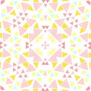 Girly kaleidoscope bedroom pattern