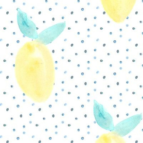 Lemonade dots • watercolor lemons
