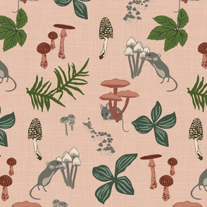 Mice & Mushrooms - Petal - Large
