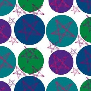 tossed stars and circles