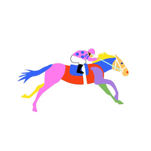 Custom Racing Horse three for 18 inch square pillow on White