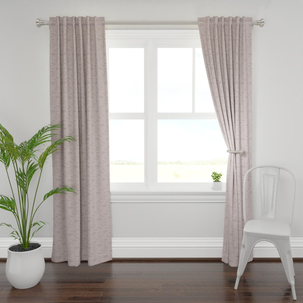 Plymouth Curtain Panel featuring Silver Mauve with Stamp Pattern by karina_love