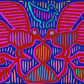 Kuna Indian Tribal Pajaros - Wallpaper