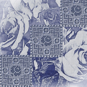 Le Bebe Roses and Lace Navy
