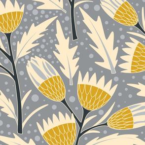 Mustard Proteas