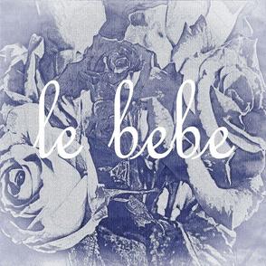 Le Bebe French Font Indigo Roses