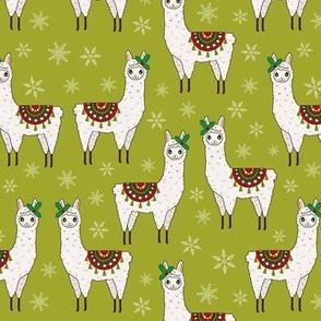 Christmas Llamas and Snowflakes