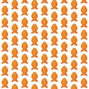 """giant 2"""" goldfish facing up half drop repeat"""