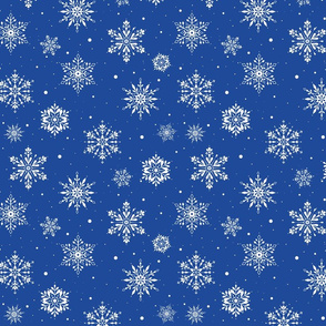Christmas Folk Snowflakes2 Blue-SM