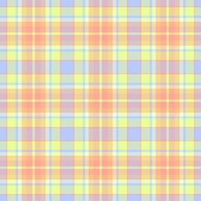 Fantasy tartan, pastel yellow