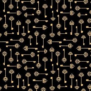 gold keys on black