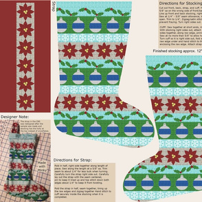 Cut & Sew Fair Isle Christmas Stocking by Shari Lynn's Stitches