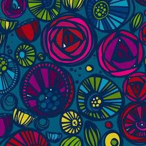 Jewel toned floral