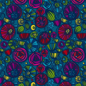 Jewel toned floral smaller