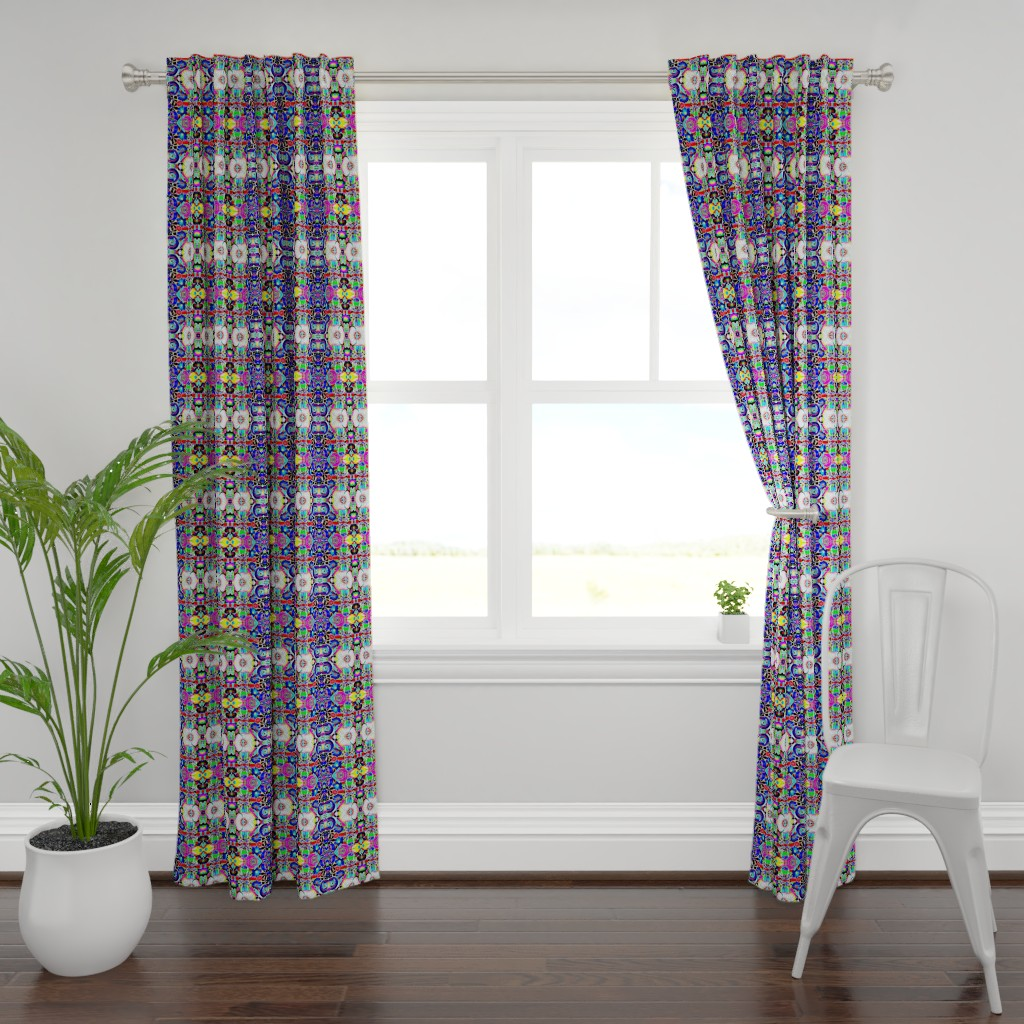 Plymouth Curtain Panel featuring Tropical Swamp 2e by colortherapeutics