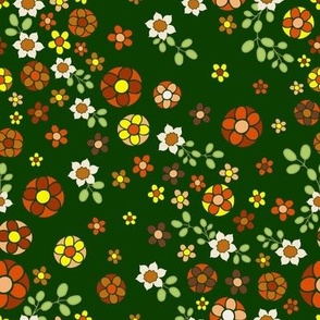 Forest Jewels 70's Floral