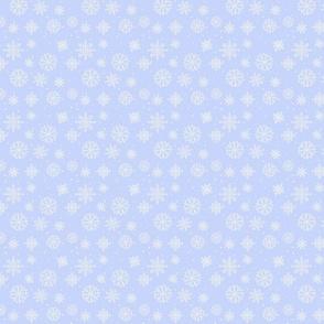 Snowflakes 2 light blue